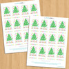 Printable Cheerful Happy Holidays Gift Tags (Instant Download)