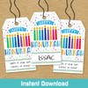 Printable Menorah Magic Hanukkah Gift Tags (Instant Download)