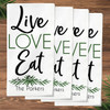 Personalized Lovely Leaf Live Love Eat Napkin Set