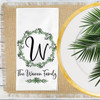 Personalized Lovely Leaf Wreath Monogrammed Napkin Set