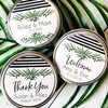 Personalized Wedding Favor Stickers: Lovely Leaf