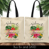 Custom Tote Bags: Modern Tropical Floral Welcome