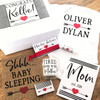 Personalized Heart & Arrow New Mom and Baby Gift Box