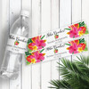 Personalized Wedding Water Bottle Labels: Modern Tropical
