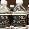 Personalized Water Bottle Labels: This Might Be Vodka
