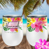Personalized Tropical Wine Tumbler