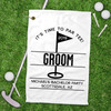 Personalized Groom's Crew Bachelor Party Golf Towel