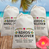 Custom Canvas Favor Bags: Adios Hangover Recovery Kit