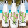 Personalized Modern Tropical Stainless Steel Water Bottle: Cactus