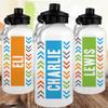 Personalized Water Bottle: Chunky Chevron