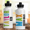 Personalized Water Bottle: Chunky Custom Colors (Brights)