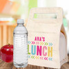 Personalized Canvas Lunch Bag: Chunky Chevron (Bright)