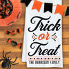 Personalized Classic Halloween Trick or Treat Kitchen Towel