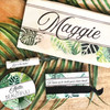 Personalized Tropical Leaves Bridal Party Gift Box