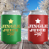 Christmas Can Coolers: Jingle Juice - Slim Can Sleeves and Holiday Can Cozies