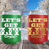 Christmas Can Coolers: Let's Get Lit - Slim Can Sleeves and Holiday Can Cozies