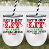 Personalized Let's Get Lit Christmas Wine Tumbler