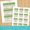 Personalized Snowman Sweater Christmas Gift Labels