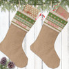 Personalized Christmas Stocking: Snowman Sweater