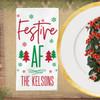 Personalized Festive AF Christmas Napkin Set