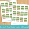 Printable Snowman Sweater Christmas Gift Tags (Instant Download)