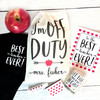 Personalized Best Teacher Ever Gift Set