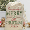 Personalized Santa Sack: Merry Little Christmas
