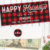 Personalized Perfectly Plaid Holiday Money Envelope
