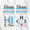 Personalized Chicago Classic Coaster Set