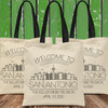 Custom Tote Bags: Welcome To Modern City Skylines (50+ Cities Available!)