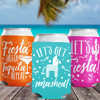 Colored Can Coolers: Let's Fiesta Party Favor Can Cozies - Slim Can Sleeves for Mexico Theme Party