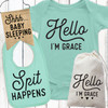 Personalized Hello Baby Gift Set (More Colors!)