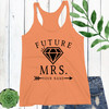 Personalized Future Mrs. Racerback Tank Top (More Colors!)