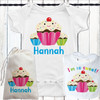 Personalized Sweet Sprinkle Cupcake Baby Blanket