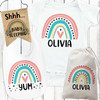Personalized Mod Rainbow Baby Gift Set