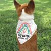 Personalized Dog Bandana: Mod Rainbow Big Sister