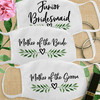 Greenery Wedding Leaf Heart Bridal Party Cloth Face Masks - Junior Bridesmaid, Mother of the Bride and Mother of the Groom