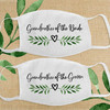 Greenery Wedding Leaf Heart Bridal Party Cloth Face Masks - Grandmother of the Bride and Grandmother of the Groom
