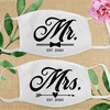 Custom Cotton Face Mask: Bride and Groom and Wedding Party Masks