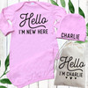 Personalized Hello Baby Gown Set