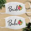 Custom Cotton Face Mask: Modern Tropical Bride & Babe