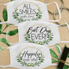 Custom Cotton Wedding Face Mask: Gold & Greenery Modern Masks for Guests