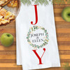 Personalized Watercolor Holly Joy Kitchen Towel