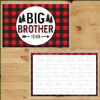 Personalized Perfectly Plaid Big Brother Laminated Placemat