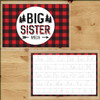 Personalized Perfectly Plaid Big Sister Laminated Placemat