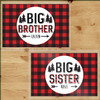 Personalized Perfectly Plaid Big Sister and Brother Laminated Placemat