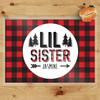Personalized Perfectly Plaid Little Sister  Laminated Placemat