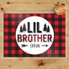 Personalized Perfectly Plaid Little Brother Laminated Placemat