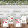 Custom Hand Sanitizer Labels: Watercolor Holly Spread Joy Not Germs
