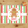 Personalized Gingerbread Kid Christmas Laminated Placemat (More Styles!)